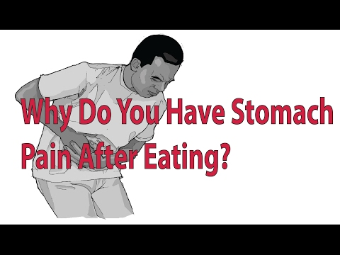 Sharp stomach pain after eating steak