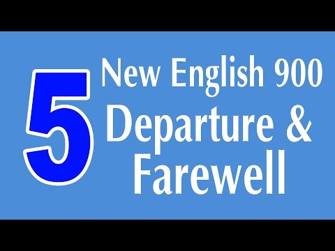 Learning English Speaking Course - New English Lesson 5 - Departure and Farewell