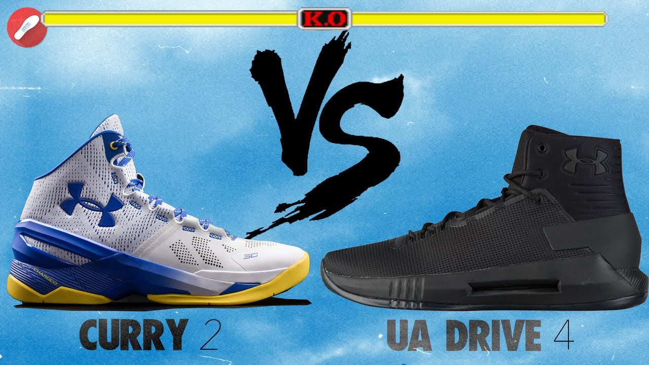 635526373267 Under Armour Curry 2 vs UA Drive 4! The Sole Brothers