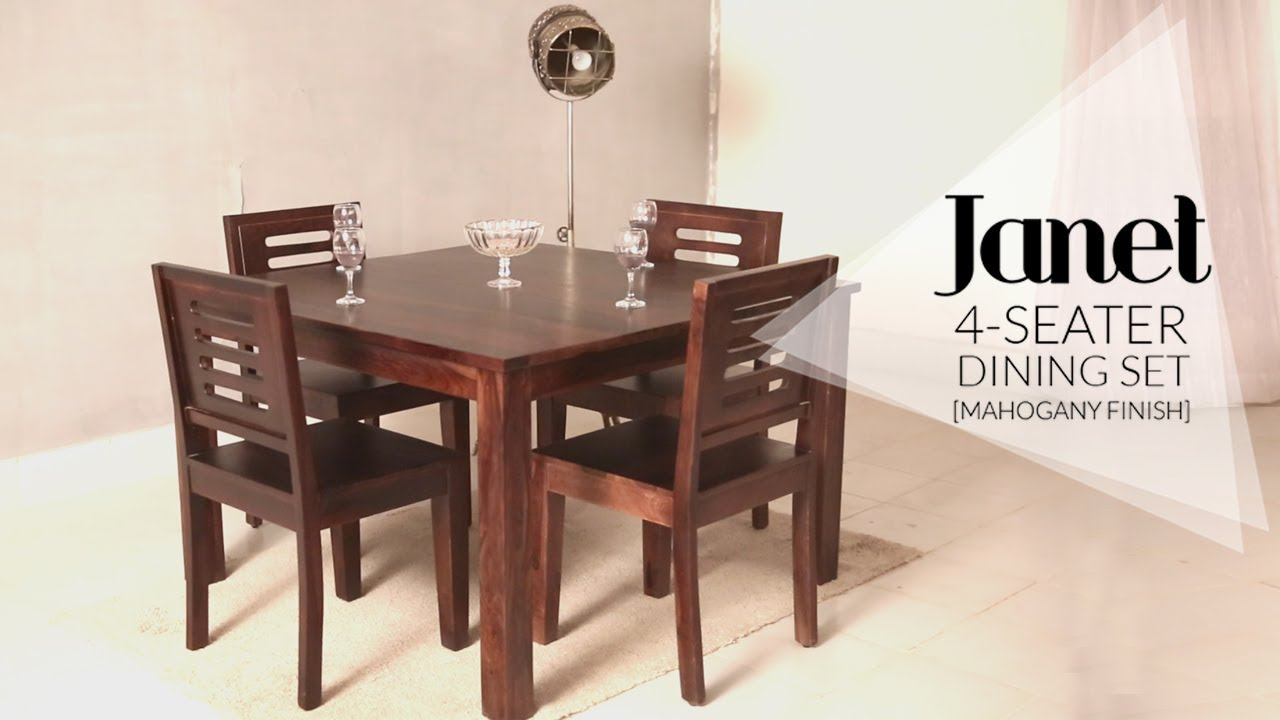 Dining Table Set : Janet 4 Seater Dining Table Set In