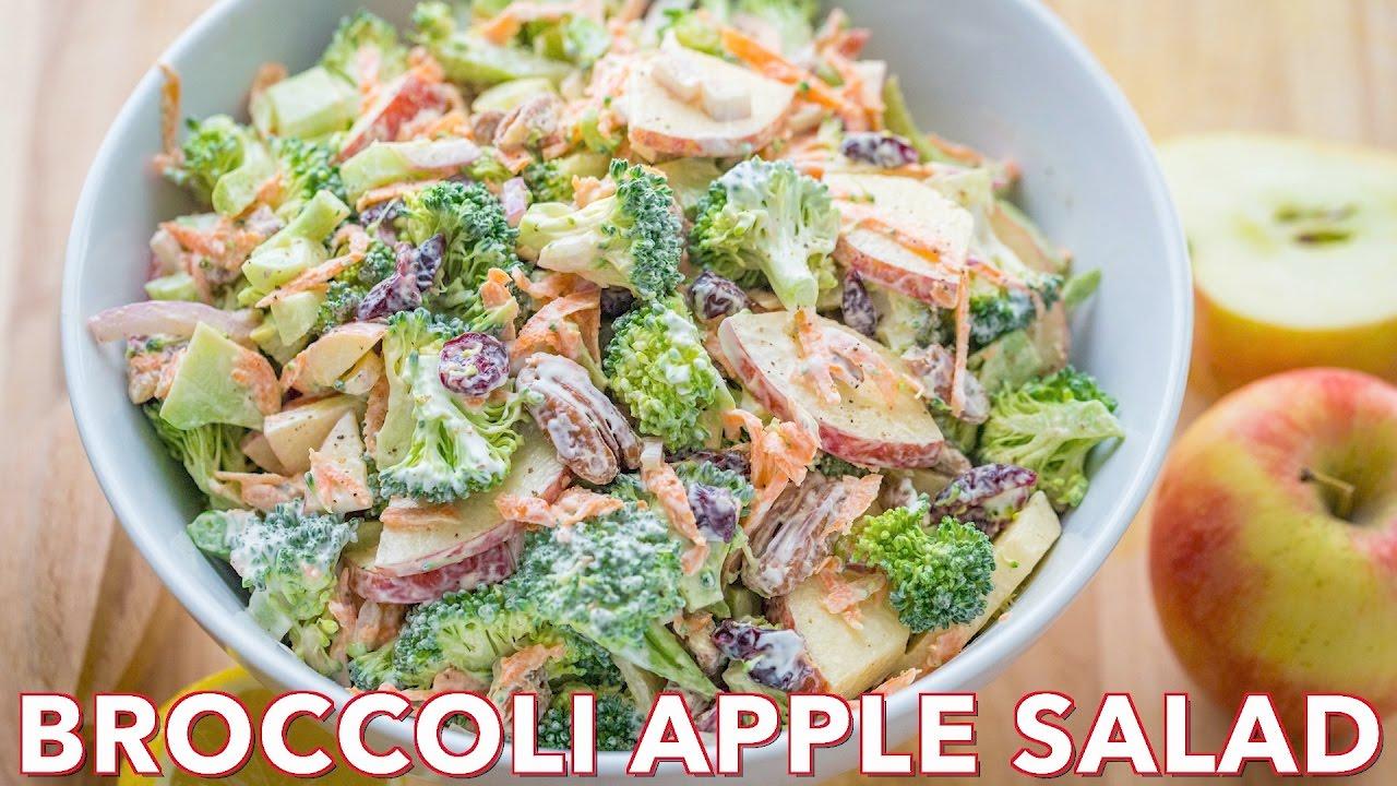 Salads Broccoli Salad With Apples And Pecans Natasha S Kitchen