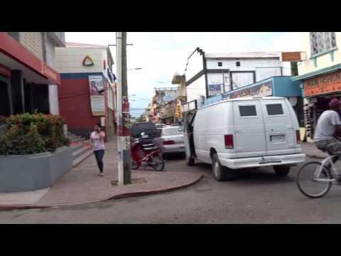 Walking in Belize City, Belize