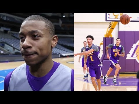 Isaiah Thomas First Lakers Practice With Lonzo Ball and Los Angeles Lakers Teammates