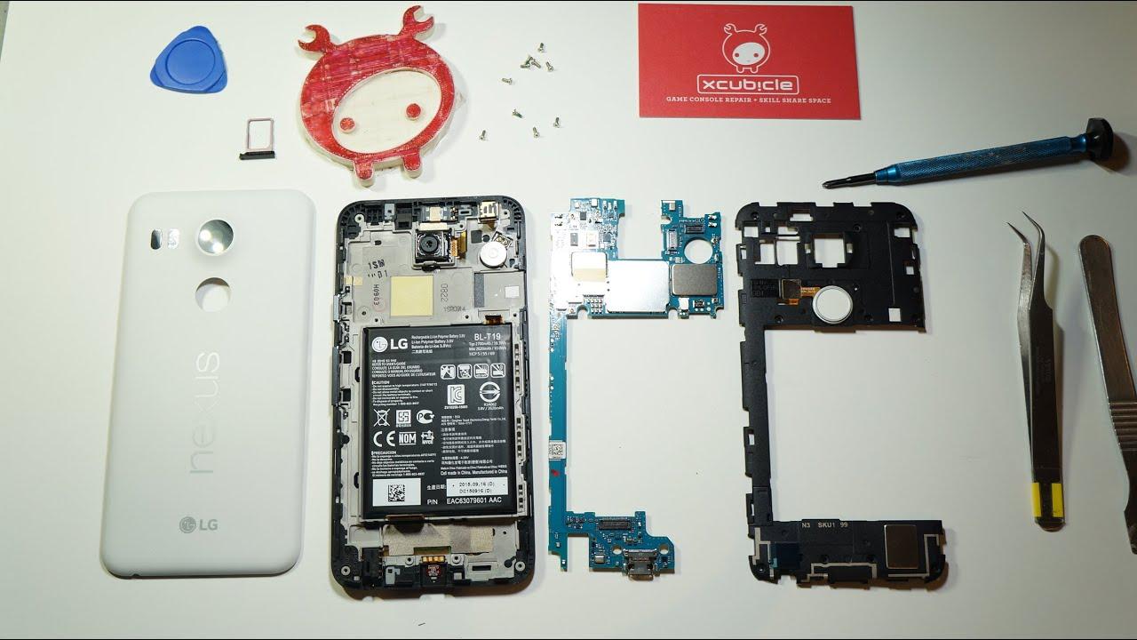 Nexus 5x Teardown Disassembly Qi Wireless Charging Mod