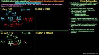 Faster Multiplication By Vedic 'NIKHILAM' Method - 4/5