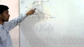 Find the equation of the lines through the point (3, 2) which make an angle of 45