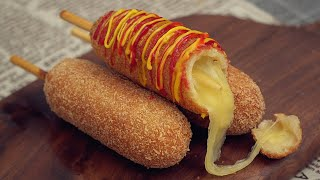 Mozzarella Cheese Corn Dog Recipe [Korean Street Food]