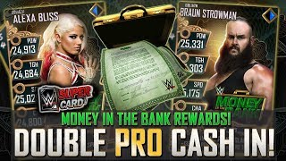 HUGE MONEY IN THE BANK CASH IN!! DOUBLE PRO REWARDS! | WWE SuperCard