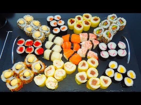 Most Delicious SUSHI CHALLENGE In Spain W/ 13 Different Types!!