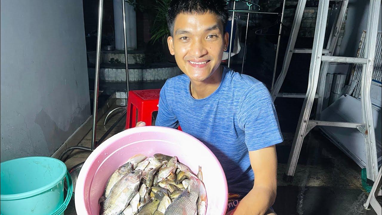 Mạc Văn Khoa đi thả lưới   Phấn khích khoe mẻ cá đồng siêu ngon 😍