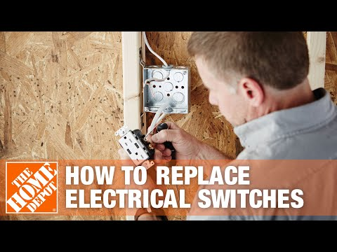 How To Replace Electrical Switches - The Home Depot - YouTube