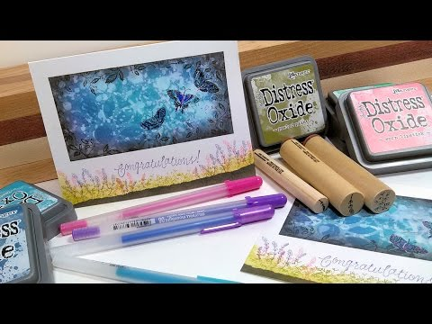 Distress Oxide Ink One Layer Card // Stamp School