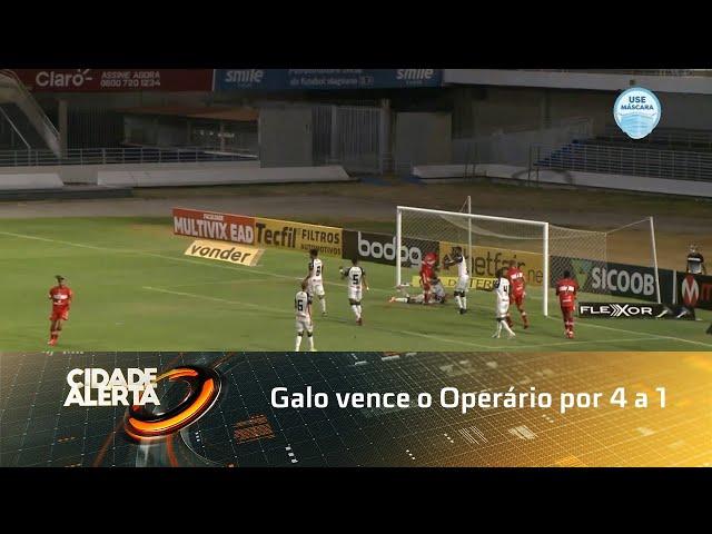 Futebol: Galo vence o Operário por 4 a 1