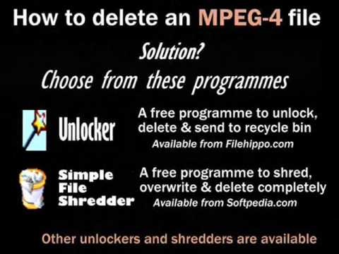 How to delete write-protected files (MPEG-4 etc)