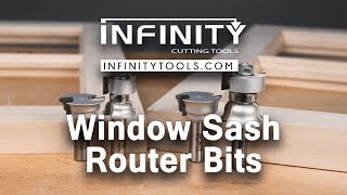 Infinity Cutting Tools - Window Sash Router Bit Set