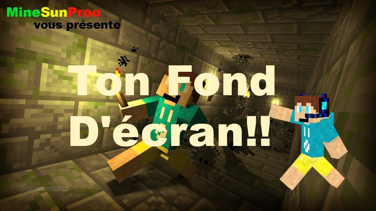 Tuto Minecraft Comment Mettre Un Fond Décran Avec Son Skin