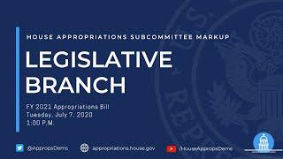 Subcommittee Markup of FY2021 Legislative Branch (EventID=110861)