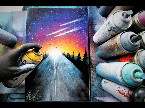 Hit the Road - SPRAY PAINT ART by Skech