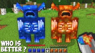 Who is STRONGER ? LAVA WARDEN vs WATER WARDEN in Minecraft !