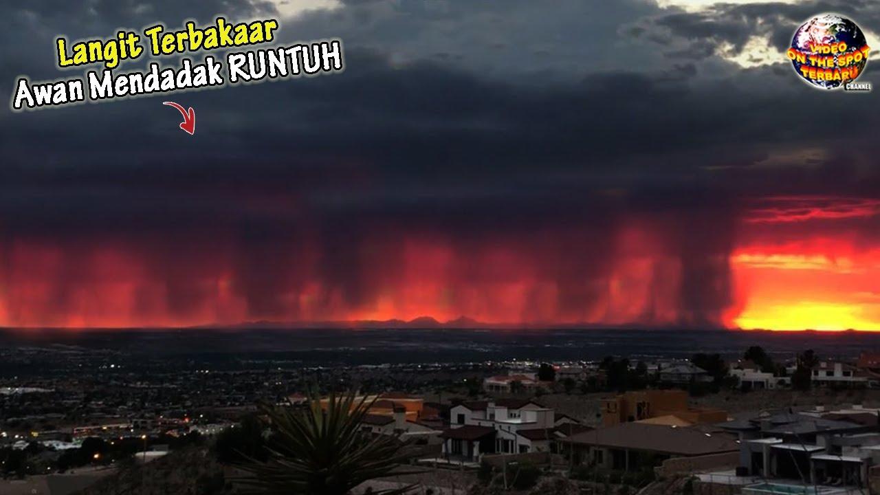 Seketika Langit Merah Menyala & Awan Hitam Runtuh  // Fenomena² Langit Langka Agustus 2020