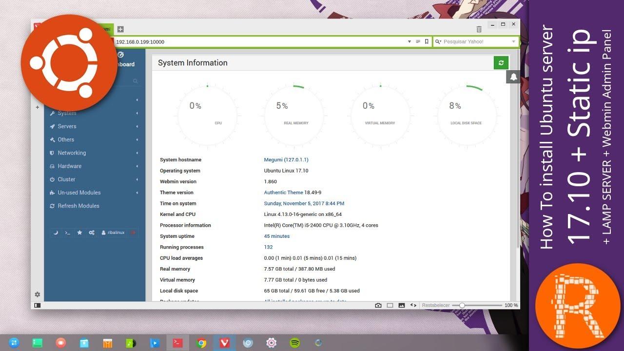 Ubuntu server 17 ipLAMP To 10Static How Admin Panel install SERVERWebmin kZwPuOXiT