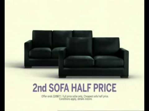 Freedom Tv Ad Second Sofa Half Price August 2017