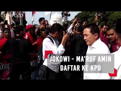 Daftar ke KPU Jokowi - Ma'ruf Amin Kompak Berbaju Putih