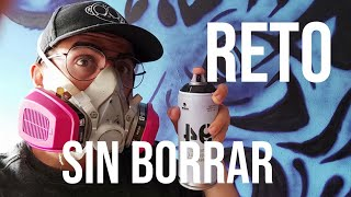 Graffiti sin Borrar y con un solo aerosol | reto casi imposible de cumplir