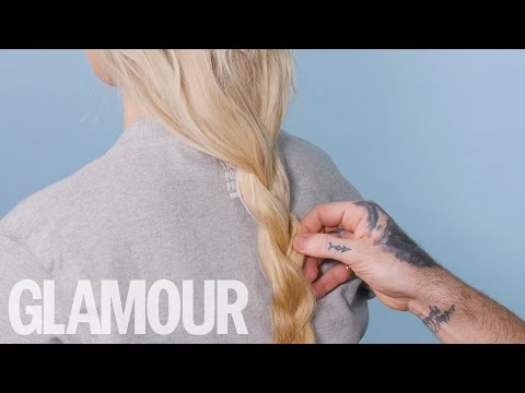 How to do a Margot Robbie Inspired Loose Braid | Beauty Clinic | Glamour UK