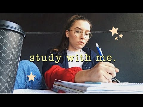 study with me (cramming w coffee)