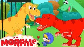 Dinosaur Park - Morphle the T Rex   Jurassic Morphle   Cartoons for Kids   My Magic Pet Morphle