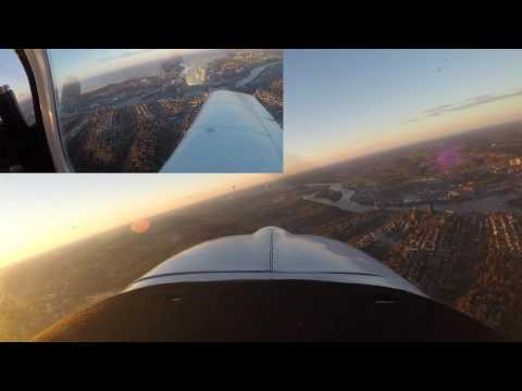 Flying around Pittsburgh in a Grumman Tiger, landing at Allegheny County Airport (KAGC)