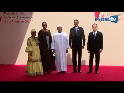President Kagame and First Lady Jeannette Kagame attend the Africa France Summit in Mali