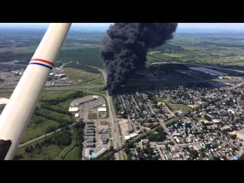 Gas Rig explosion Accident near Repentigny, Quebec (eye in the sky)