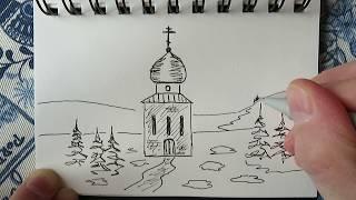 """Стихотворение """"Скоро Пасха"""" и рисунок в исполнении автора"""