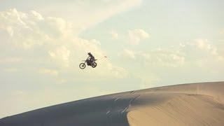 Sand Dunes- Jumps, Whips, Crashes, Burms, Wheelies- Exuberator