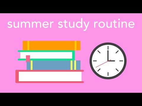 summer study routine