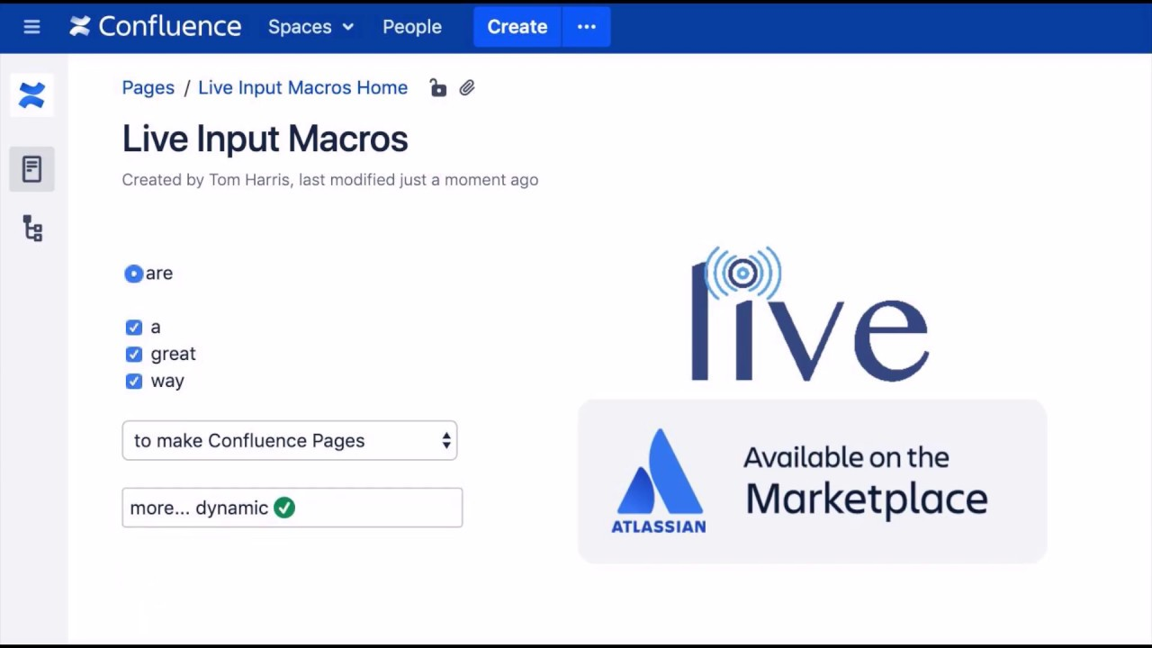 Live Input Macros for Confluence by Old Street, Atlassian Solutions.