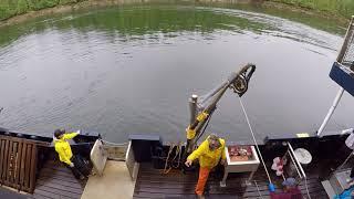 Crab Boat Excursion Ketchikan Alaska   Pulling in the Shrimp Basket SLOWLY   July 2017