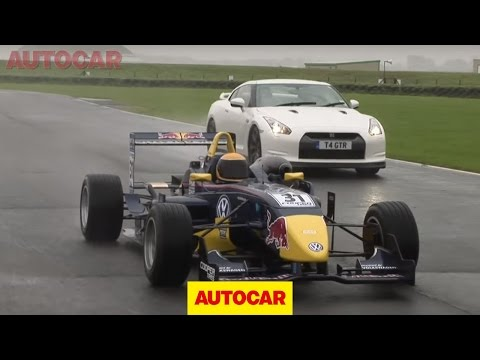 Nissan GT-R vs Formula 3 car video by autocar.co.uk