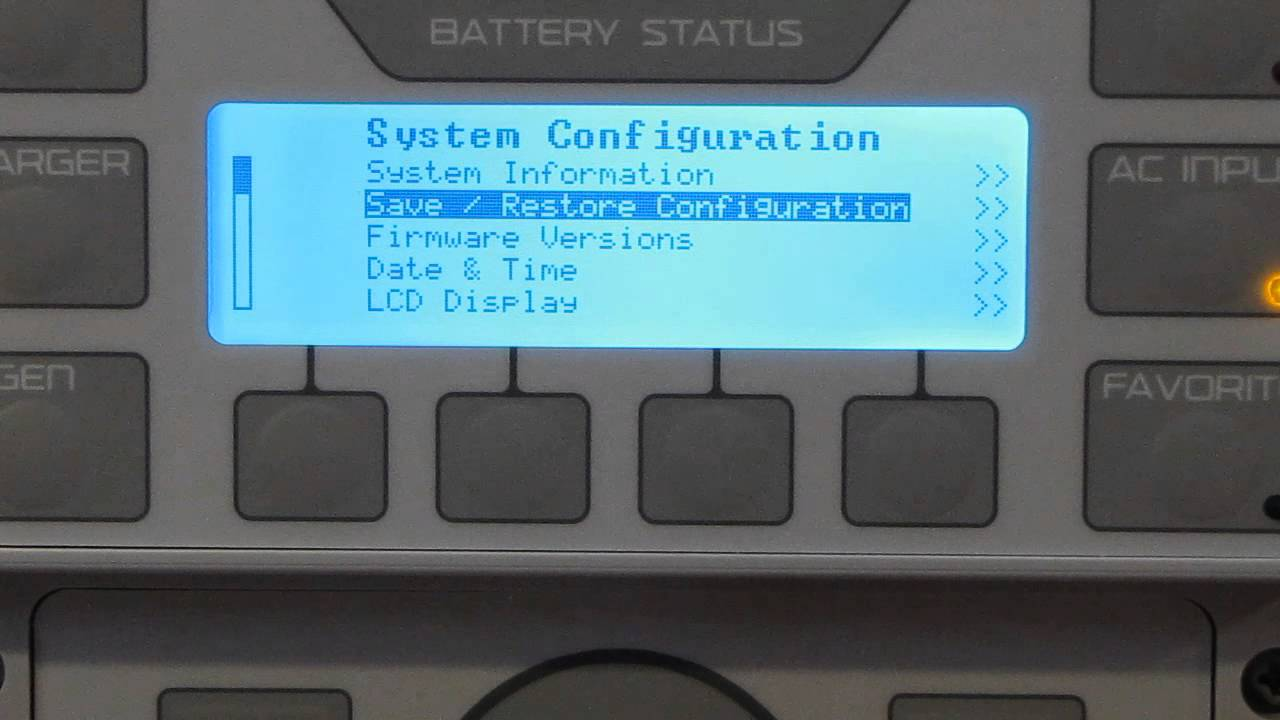 OutBack Mate 3 System Controller Update By VIARLOCITY