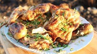 Курица, запеченная на углях. Как вкусно запечь курицу на даче.