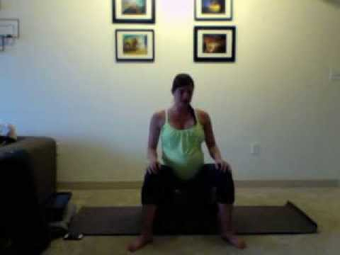pregnancy yoga week 23  labor positions  youtube