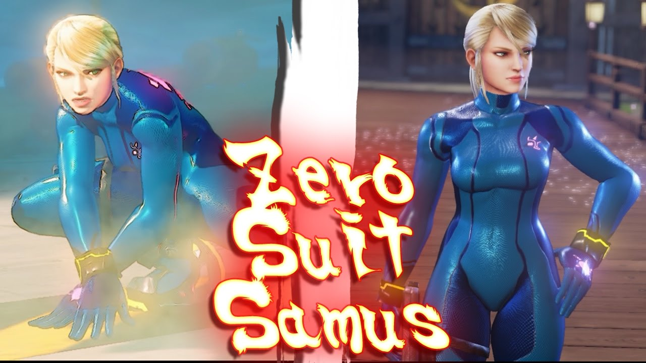 Resultado de imagen de zero suit samus en street fighter 5