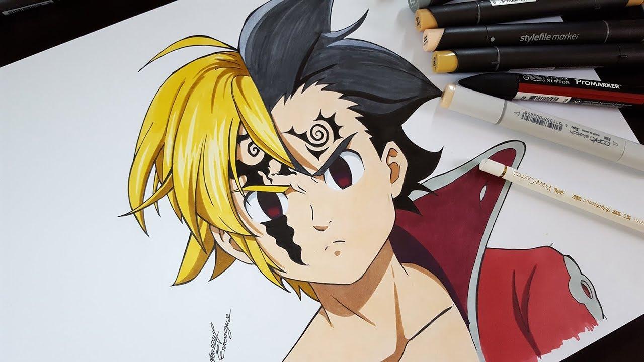 Drawing Meliodas Zeldris From Seven Deadly Sins Nanatsu No Taizai