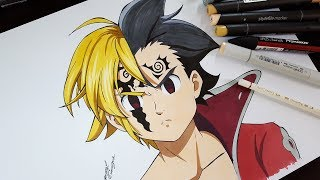 Drawing Meliodas & Zeldris From Seven Deadly Sins (Nanatsu No Taizai)