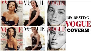 RECREATING VOGUE COVERS!!