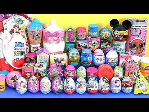 Download 55 SURPRISE EGGS Huge Toys Collection with Mashems Fashems LOL dolls
