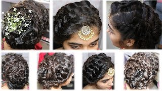 Make braided hairstyle on long hairs - Party/function hairstyle for long hairs