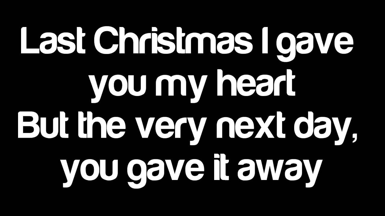 Last Christmas - Taylor Swift (LYRICS) - YouTube
